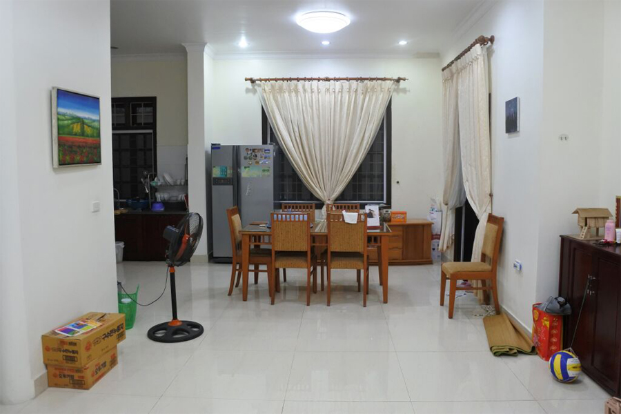 Stunning villa with 5 BRs for rent in D Block, Ciputra Hanoi, fully renovated 1