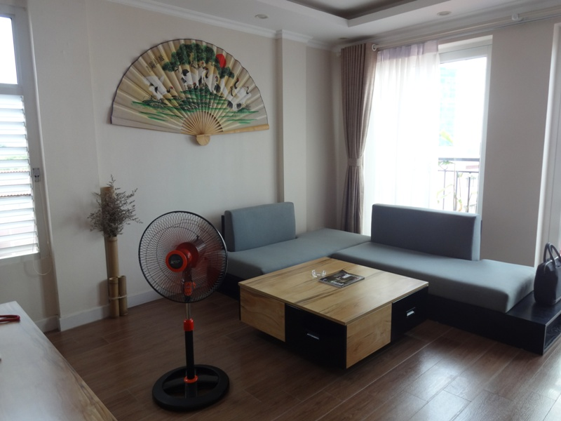 The fully furnished serviced apartment on the fifth floor is for rent on Kim Ma street, Ba Dinh district, Hanoi
