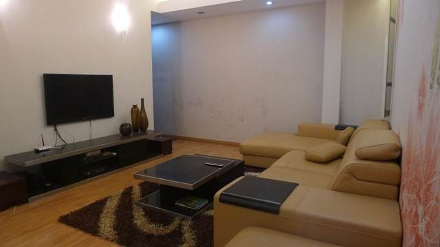Three bedrooms serviced apartment for rent in Van Cao street, Ba Dinh district, Hanoi