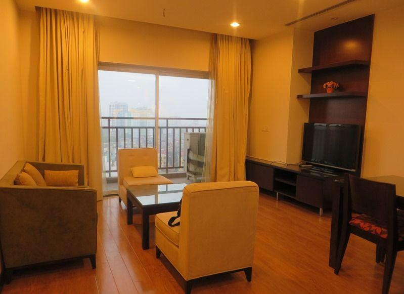 Two bedrooms apartment for rent in Hoa Binh Green, Ba Dinh district, Hanoi