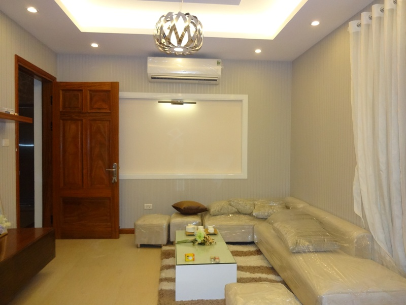 Two bedrooms serviced apartment for lease in Tran Phu street, Ba Dinh district, Hanoi.