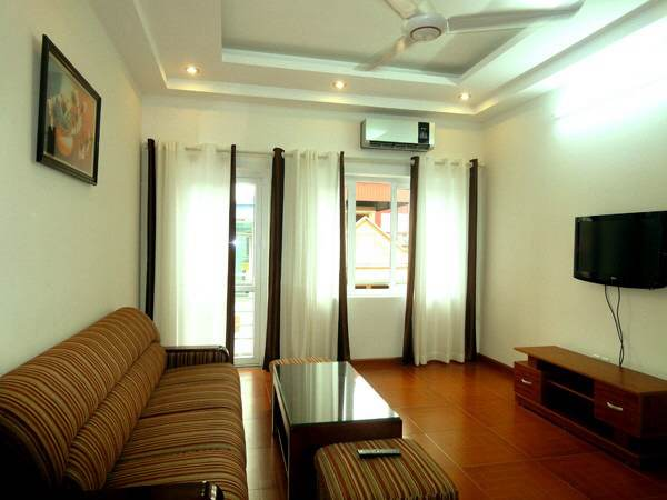 Two bedrooms serviced  apartment for rent in Doi Can street, Ba Dinh district, Hanoi