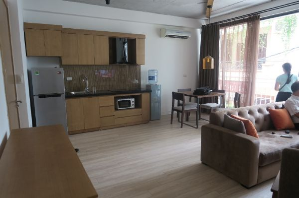 Two bedrooms serviced apartment for rent in Kim Ma street, Ba Dinh district, Hanoi