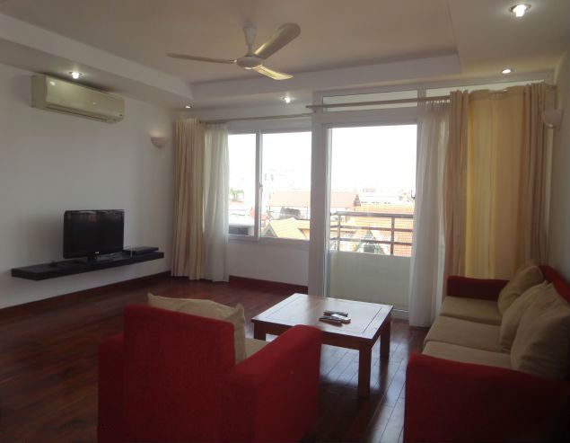 Two bedrooms serviced apartment for rent in To Ngoc Van street, Tay Ho, Hanoi