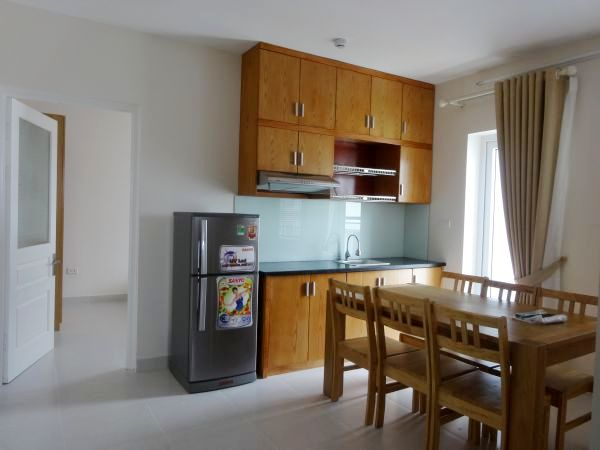 Cheap apartment with 2 bedrooms for rent in Lac Long Quan street, Tay Ho district, Hanoi