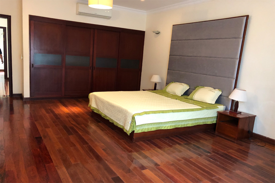 Well designed villa with 5 BRs for rent in C Block, Ciputra Hanoi, convenient location 12